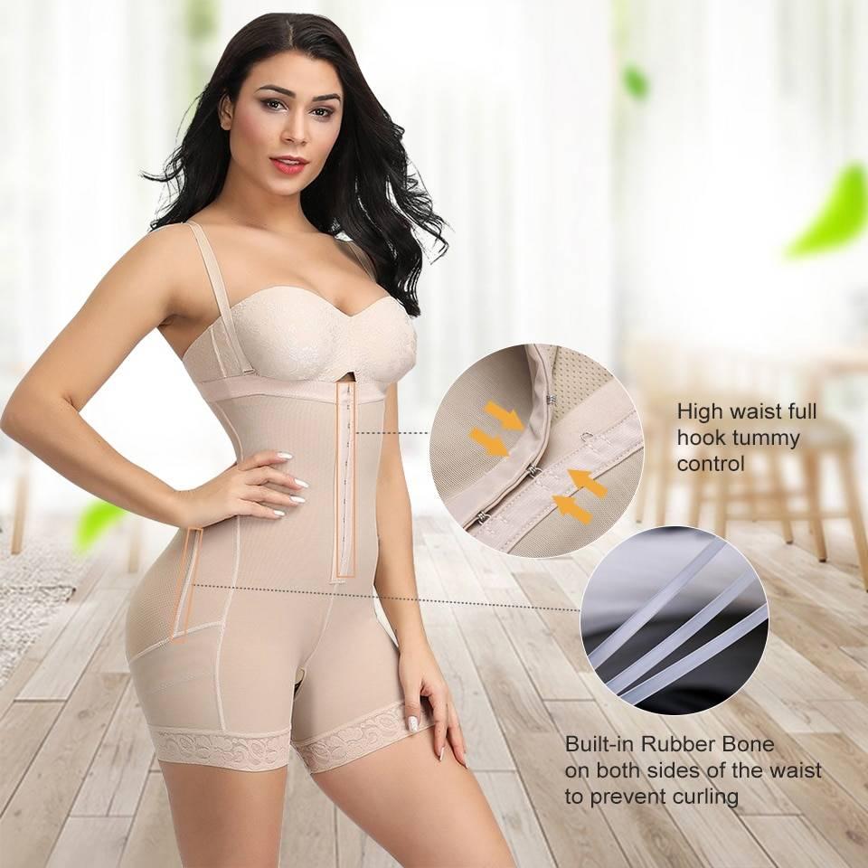 FeelinGirl Faja Reductoras Colombianas Post Surgery Slim Women Girdle Body Shaper Bodysuit Butt Lifter Shapewear Modeling Belt