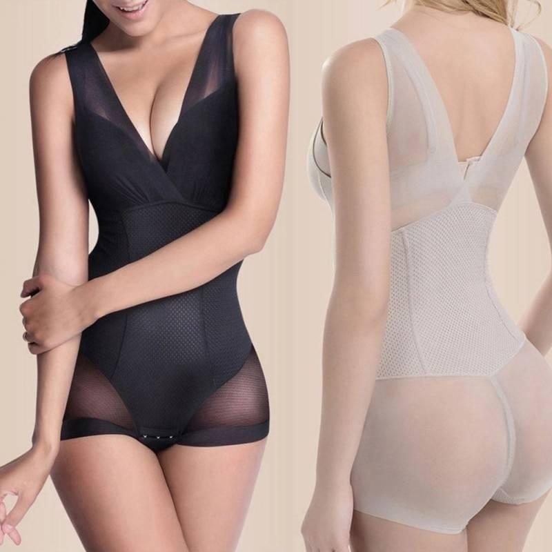 Lady Slimming Burn Fat Briefs Shapewear Tummy Slim Bodysuit Full Body Shaper Slimming Underwear Vest Bodysuits Jumpsuit L-XXL