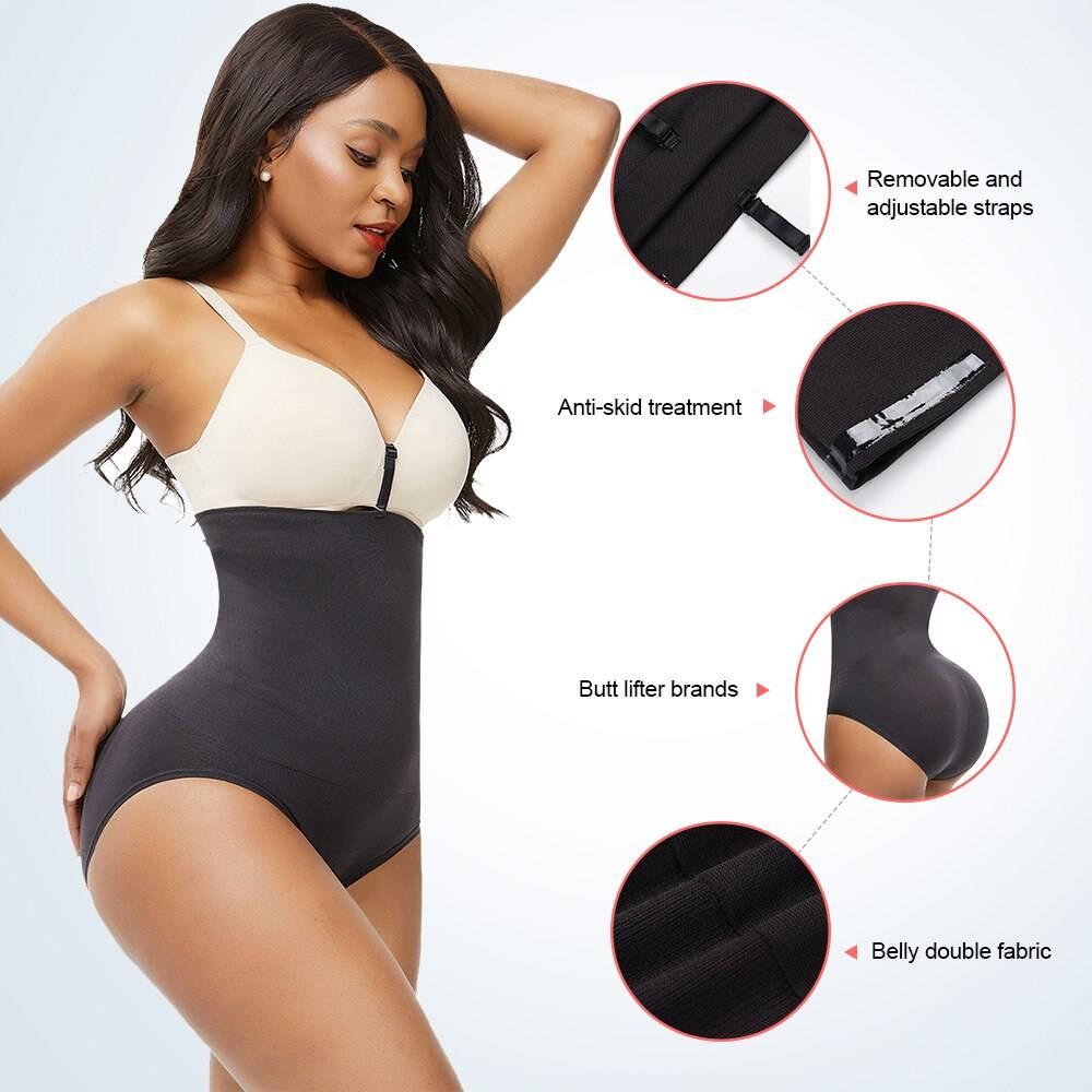 FeelinGirl Seamless Women Shapers High Waist Slimming Tummy Control Butt Lifter Briefs Magic Body Shapewear Waist Trainer