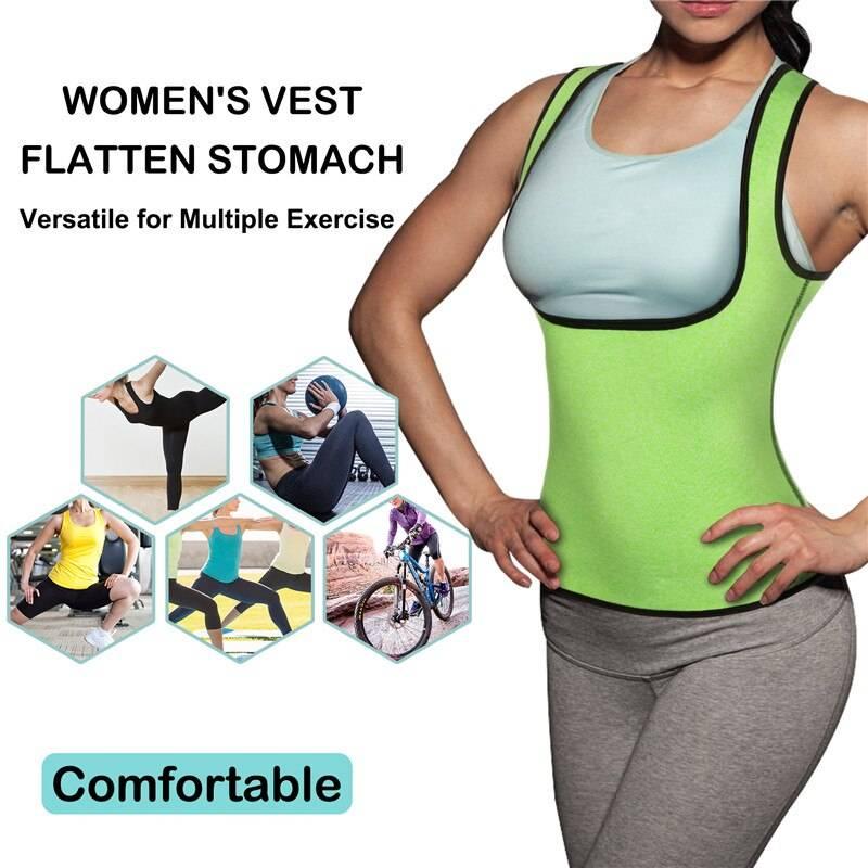 Junlan Women Reducing and Shaping Vest Neoprene Sweat Waist Trainer Tummy Control Shapers Fat Burn Body Shaperwear Weight Loss
