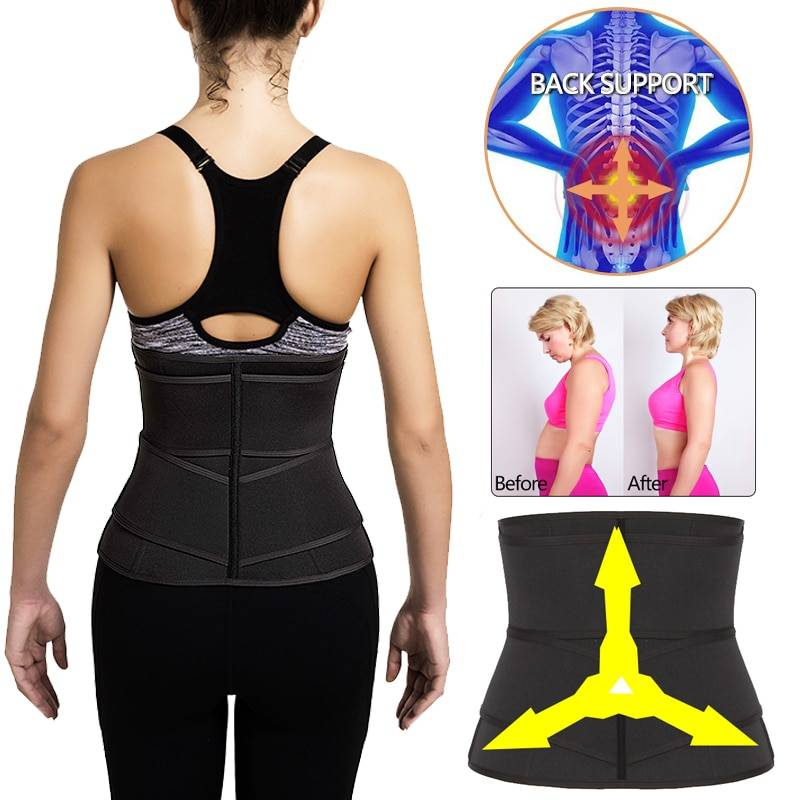 Neoprene Sweat Waist Trainer Body Shaper Tummy Corset Slimming Belt Shapewear Weight Loss Belly Band Sports Girdles Workout Belt