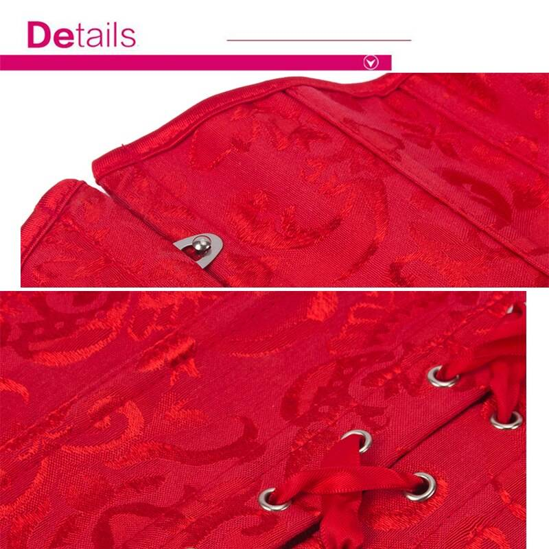 SAYFUT Women's Lace Up Boned Underbust Corset And Bustier Top Waist Cincher Trainer Slim Bodyshaper Outfit Steampunk Corselet
