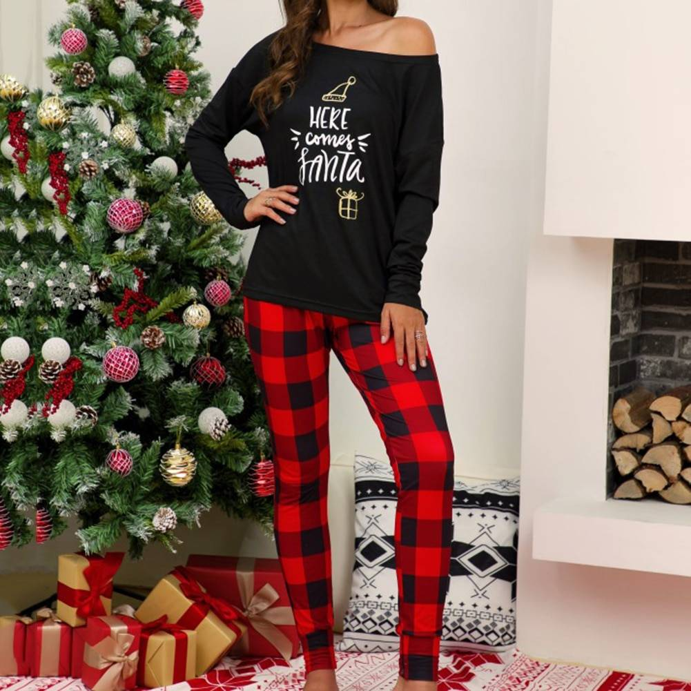 Womens Christmas Pajamas 2 Piece Set - Available in Small to Plus Size!
