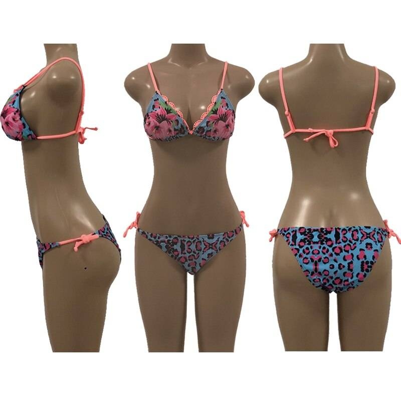 2020 Women's Thong Swimsuit Set, Summer Sexy Swimsuit Brazilian Bikini , Ruffle Back Swimsuit