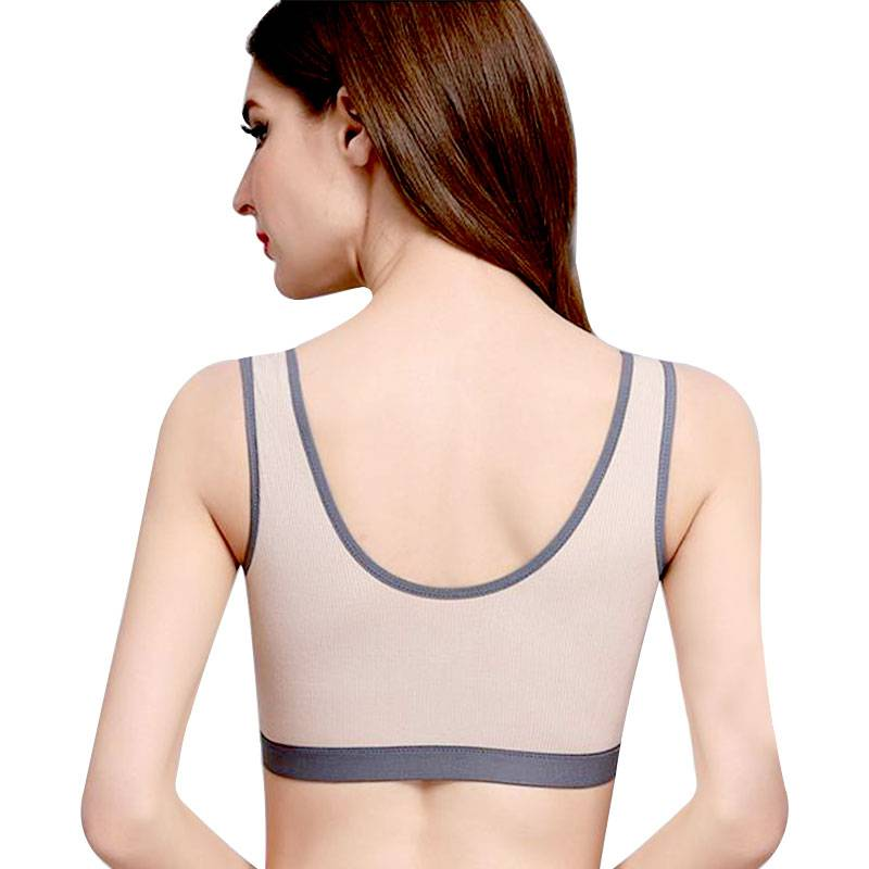 Post Mastectomy Bras with Pockets - Prosthesis Bra with Front Zipper for Breast Cancer Patients