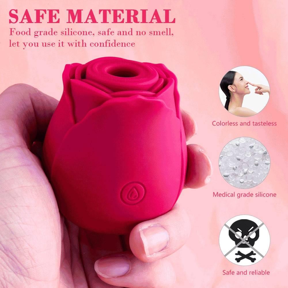 Rose Flower Sucking Vibrator for Women Clit Sucker Vaginal Clitoral Stimulate Erotic Sex Toys For Adult Masturbator Nipple