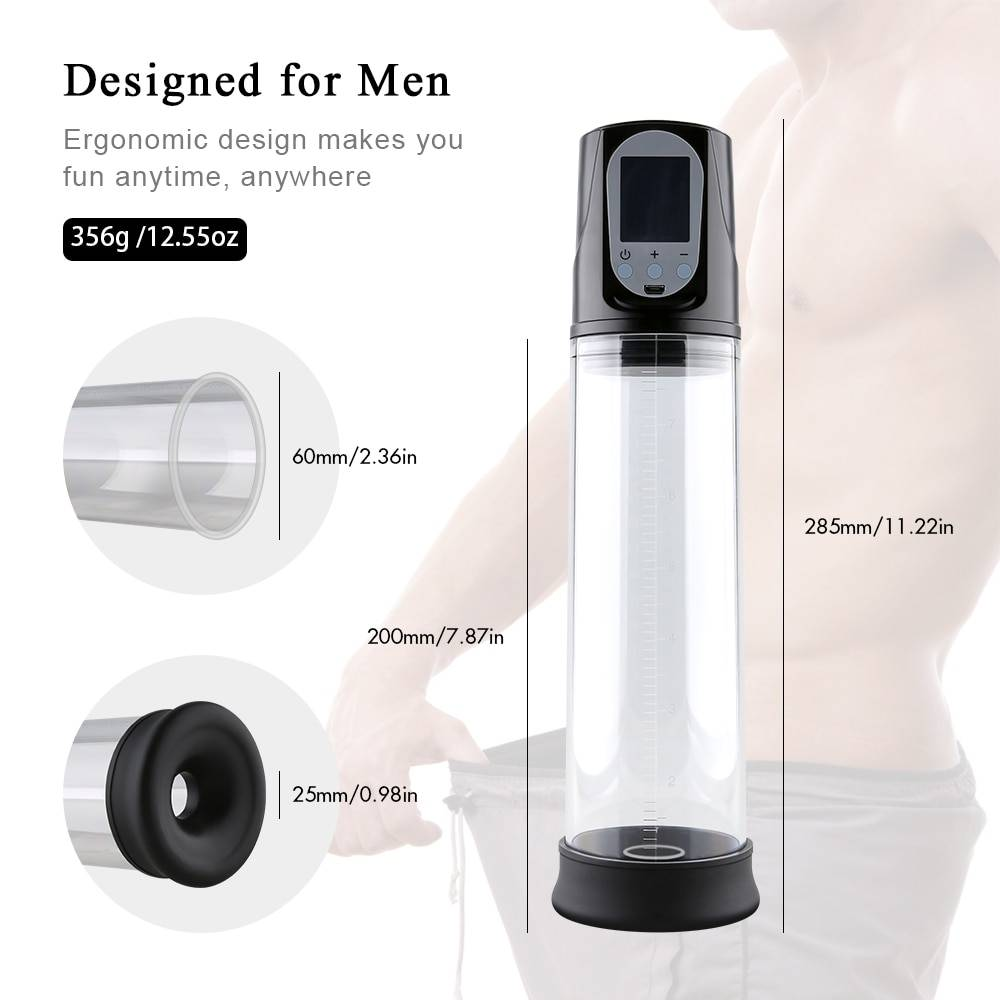 Electric Penis Pump Sex Toys for Men Male Masturbator Penis Extender Penile Vacuum Pump Penis Enlargement Enhancer Massager Ring