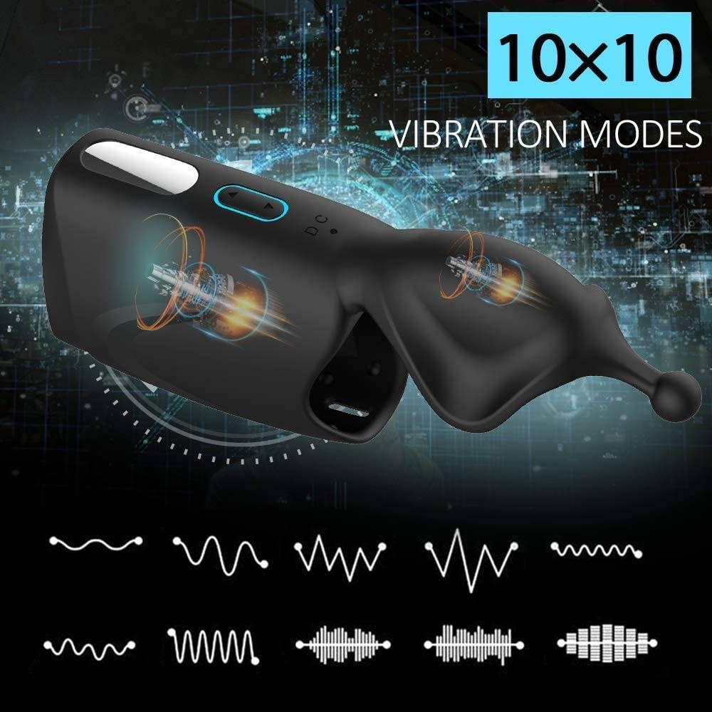 Powerful Vibrator Glans Massager Penis Stimulation penis delay trainer Male Masturbator Sex Machine Sex Toys for Men Adults