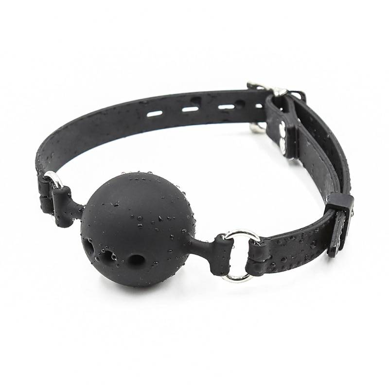 3 Sizes Soft Safety Silicone Open Mouth Gag Ball Bdsm Bondage Slave Ball Gag Erotic Sex Toys For Woman Couples Adult Sex Games