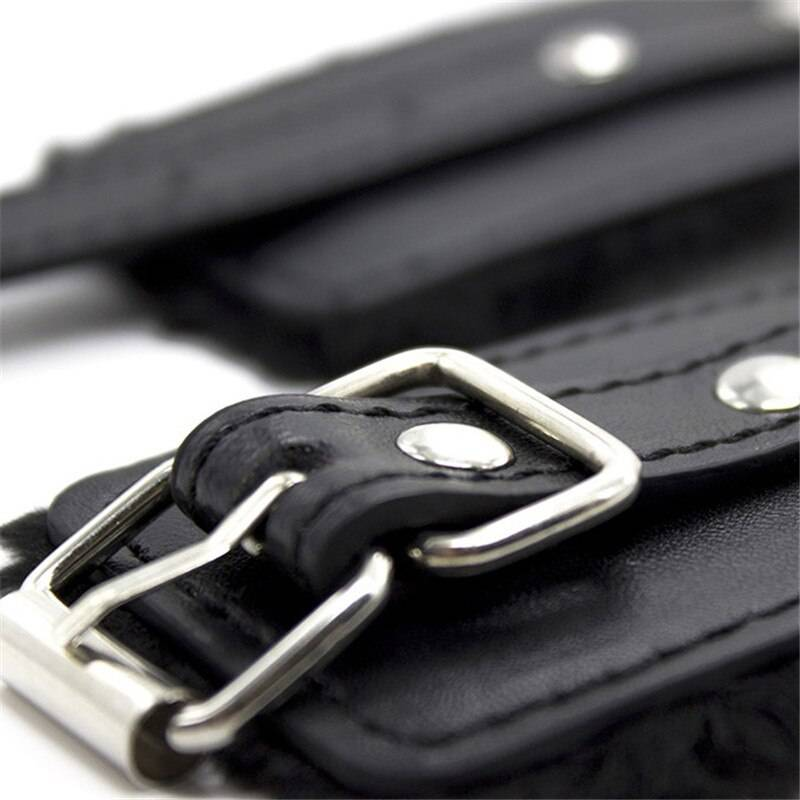 Exotic Accessories Adjustable PU Leather Plush Hand Cuffs Ankle Handcuffs For Restraints Sex Bondage Handcuffs for Sex