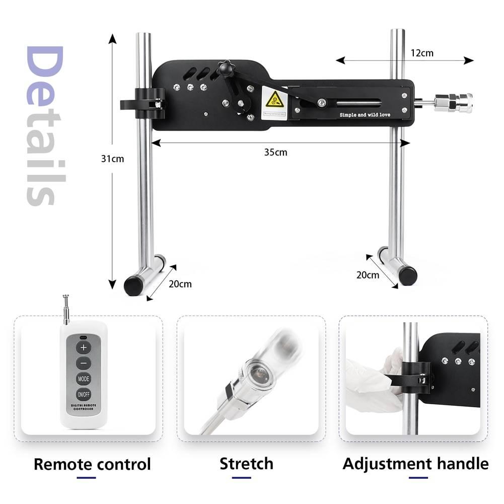 【USA warehouse】Premium Sex Toys Machines for Women Remote-Control LOVE Machine Vibrating Machine with Huge Dildo Attachment