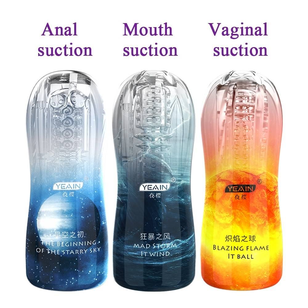 Male Masturbator Cup Soft Pussy Sex Toys Transparent Vagina Adult Endurance Exercise Products Vacuum Pocket For Men Vagina Mouth