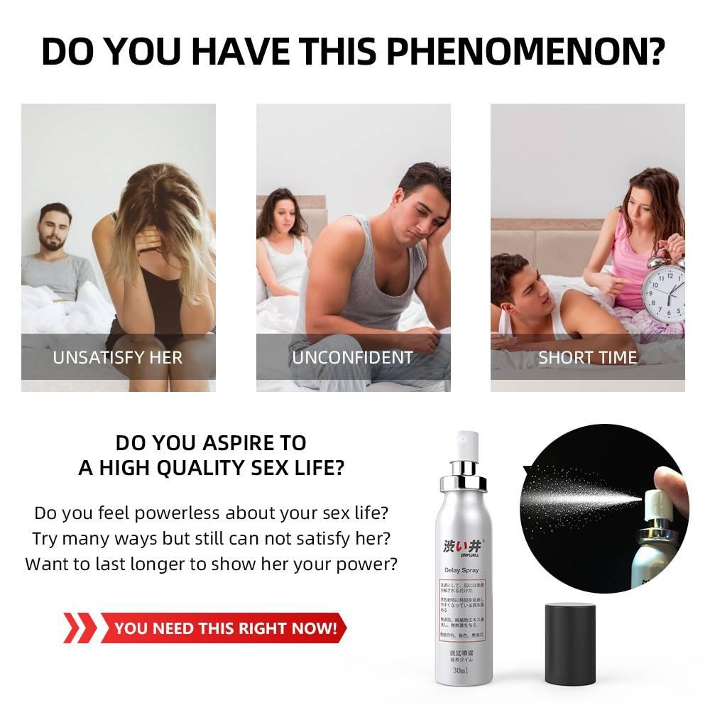 30ML+5ML Sex Delay Spray for Men Non-Numbing Male Delay Ejaculation Sex Spray Man Prolong Sprays Penis Premature Ejaculation
